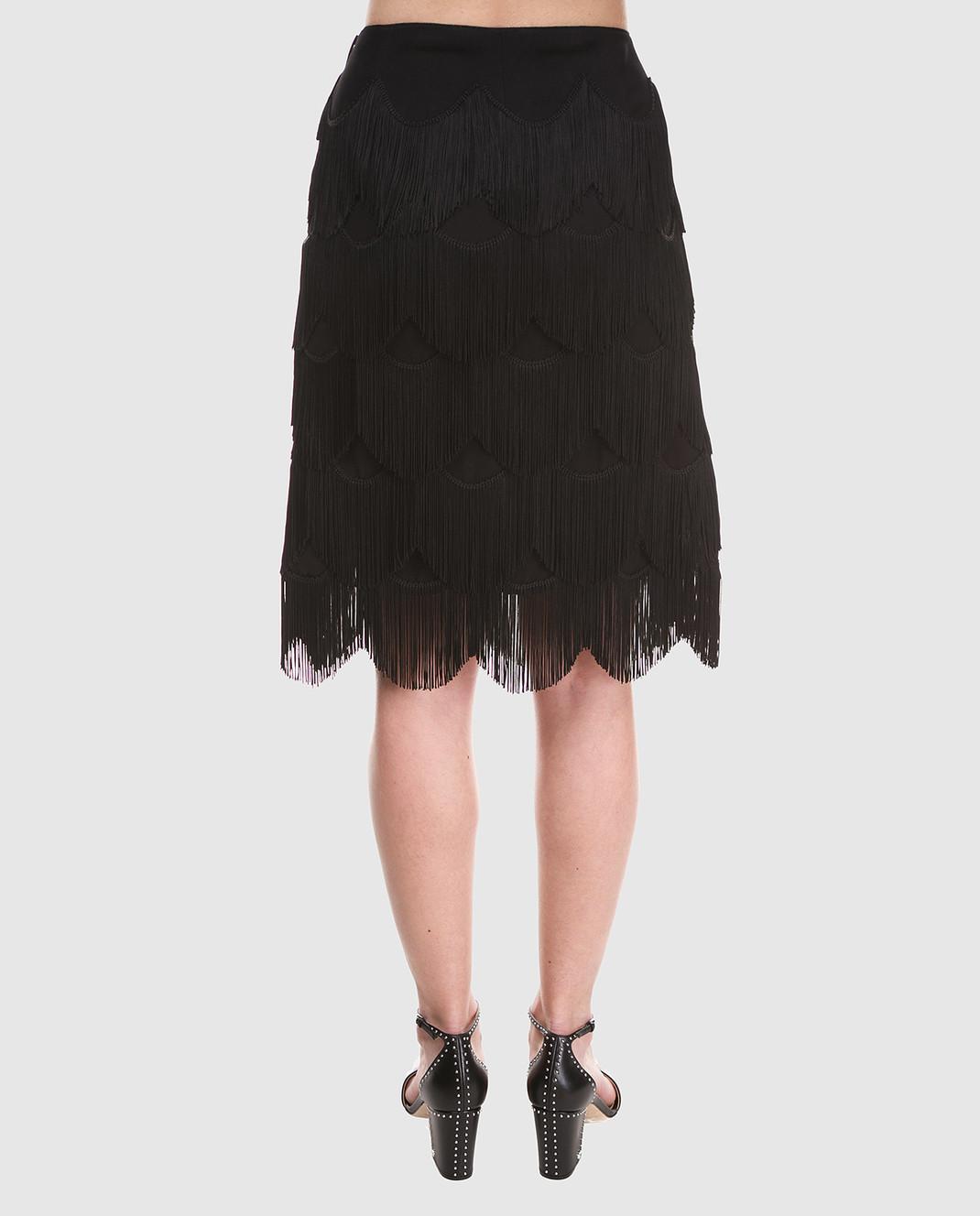 Marc Jacobs Черная юбка с бахромой M4007189 изображение 4
