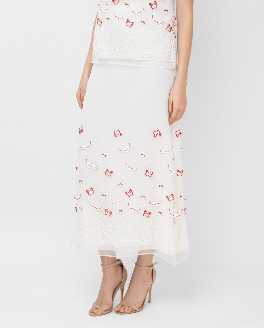 Giamba Белая юбка PG4072 изображение 3