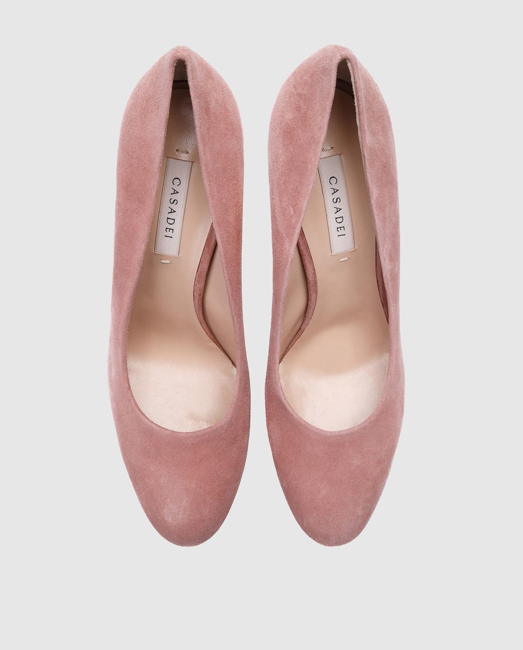 Casadei Пудровые замшевые туфли изображение 4