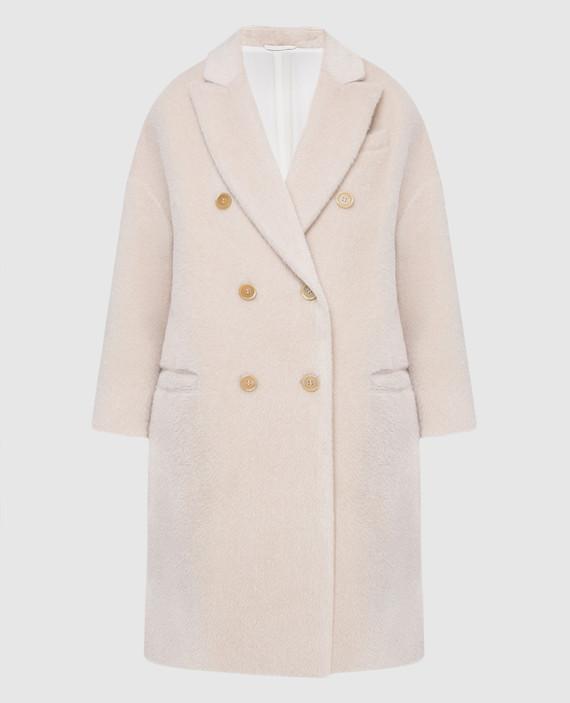 Светло-бежевое пальто из альпаки и шерсти
