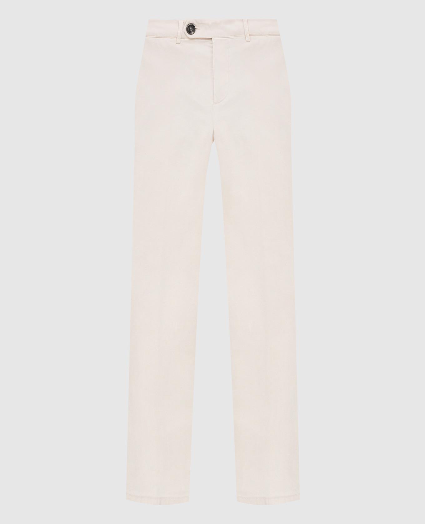 Светло-бежевые брюки Brunello Cucinelli