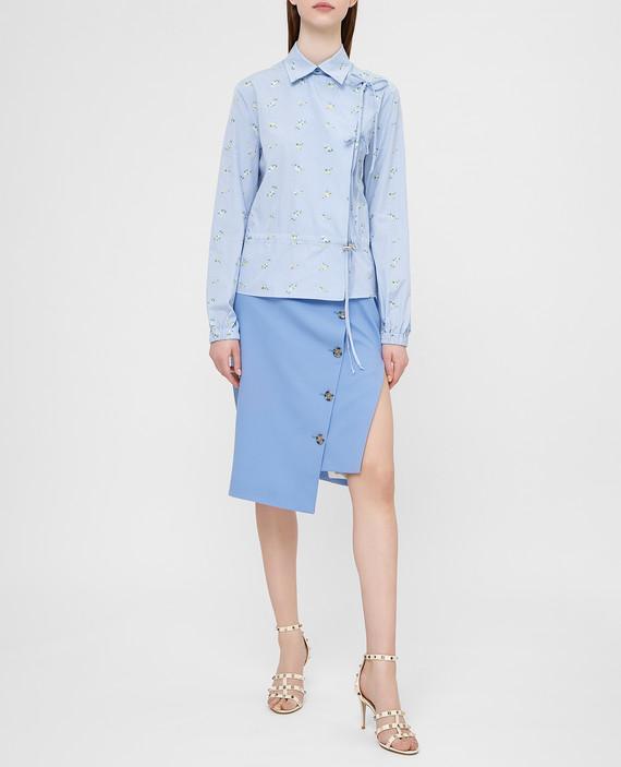 Голубая юбка из шерсти hover