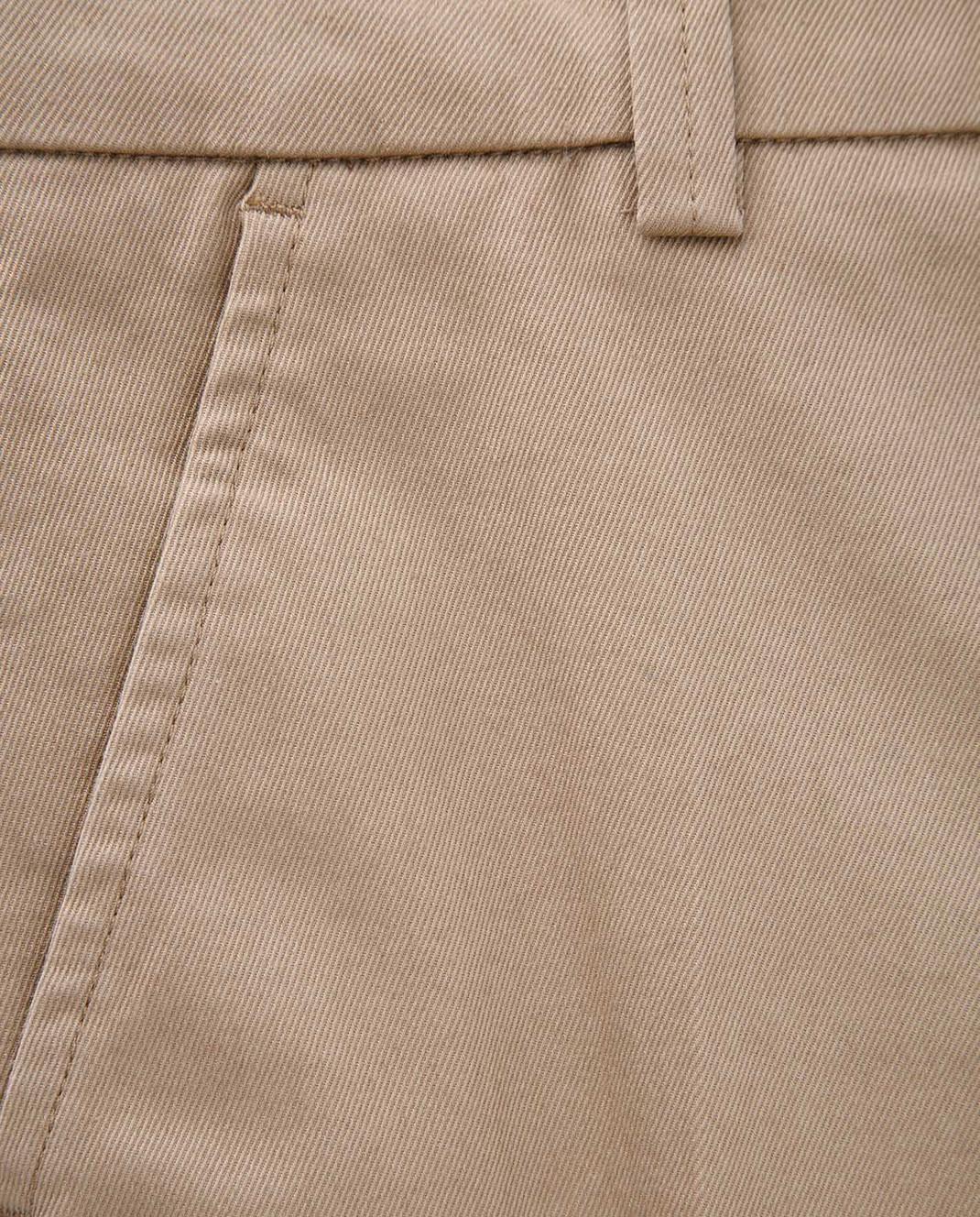 Moncler ENFANT Детские бежевые брюки 110188A10A изображение 3