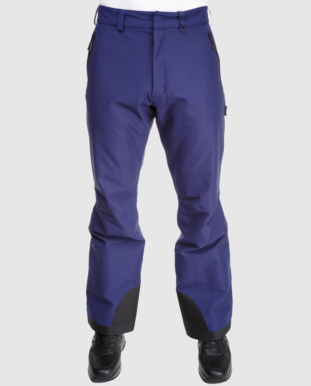 Moncler Grenoble Синие лыжные брюки 11410 изображение 3