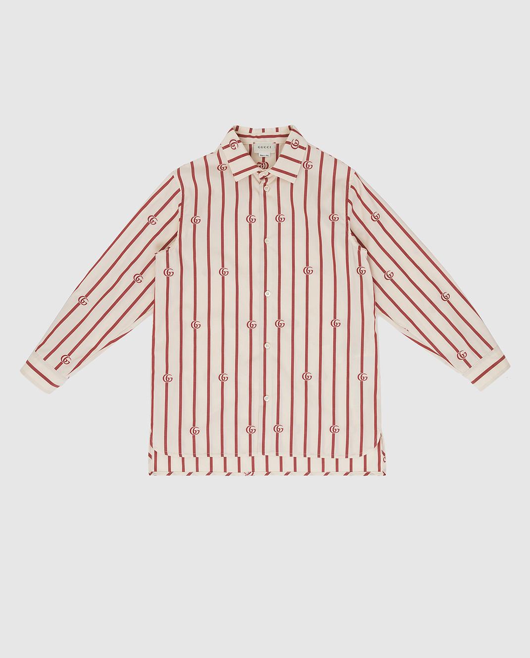 Gucci Детская светло-бежевая рубашка изображение 1