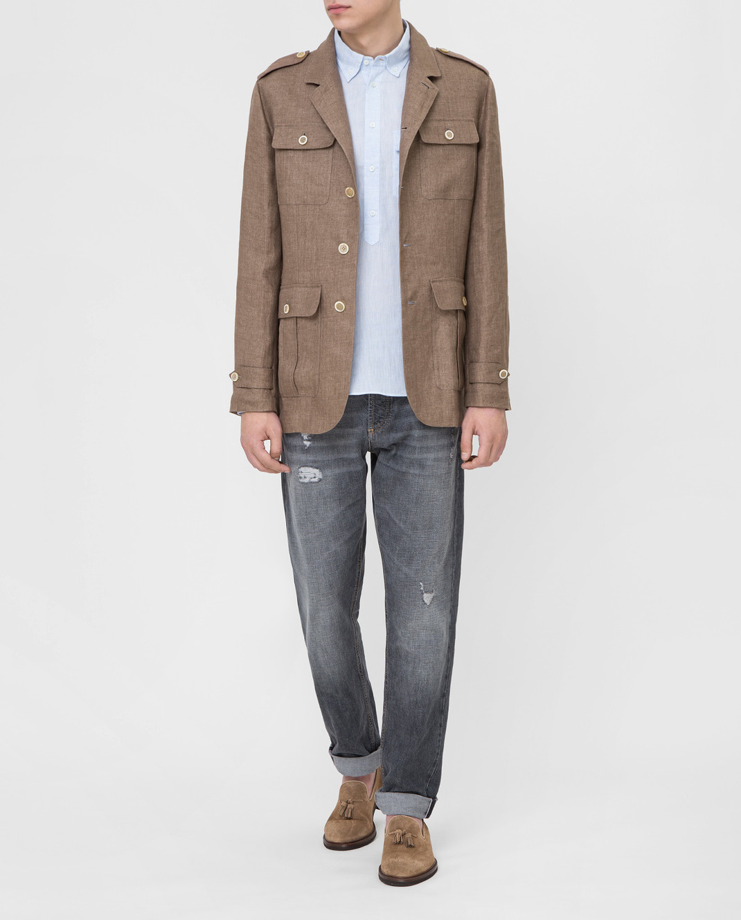 Brunello Cucinelli Коричневая куртка MD4176849 изображение 2
