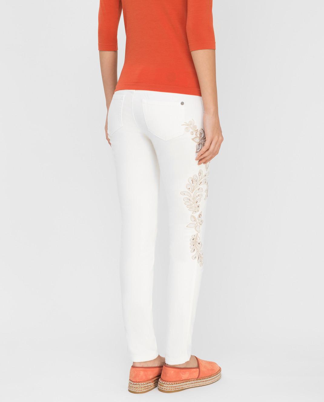 Ermanno Scervino Белые джинсы D287P700UFX изображение 4