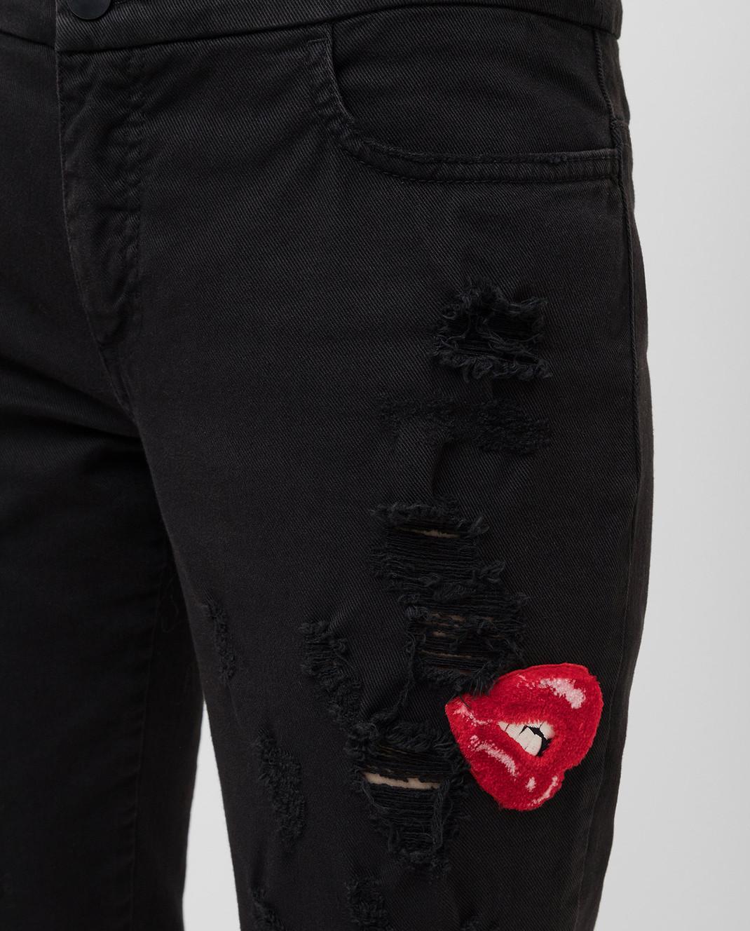 Giamba Черные джинсы изображение 5