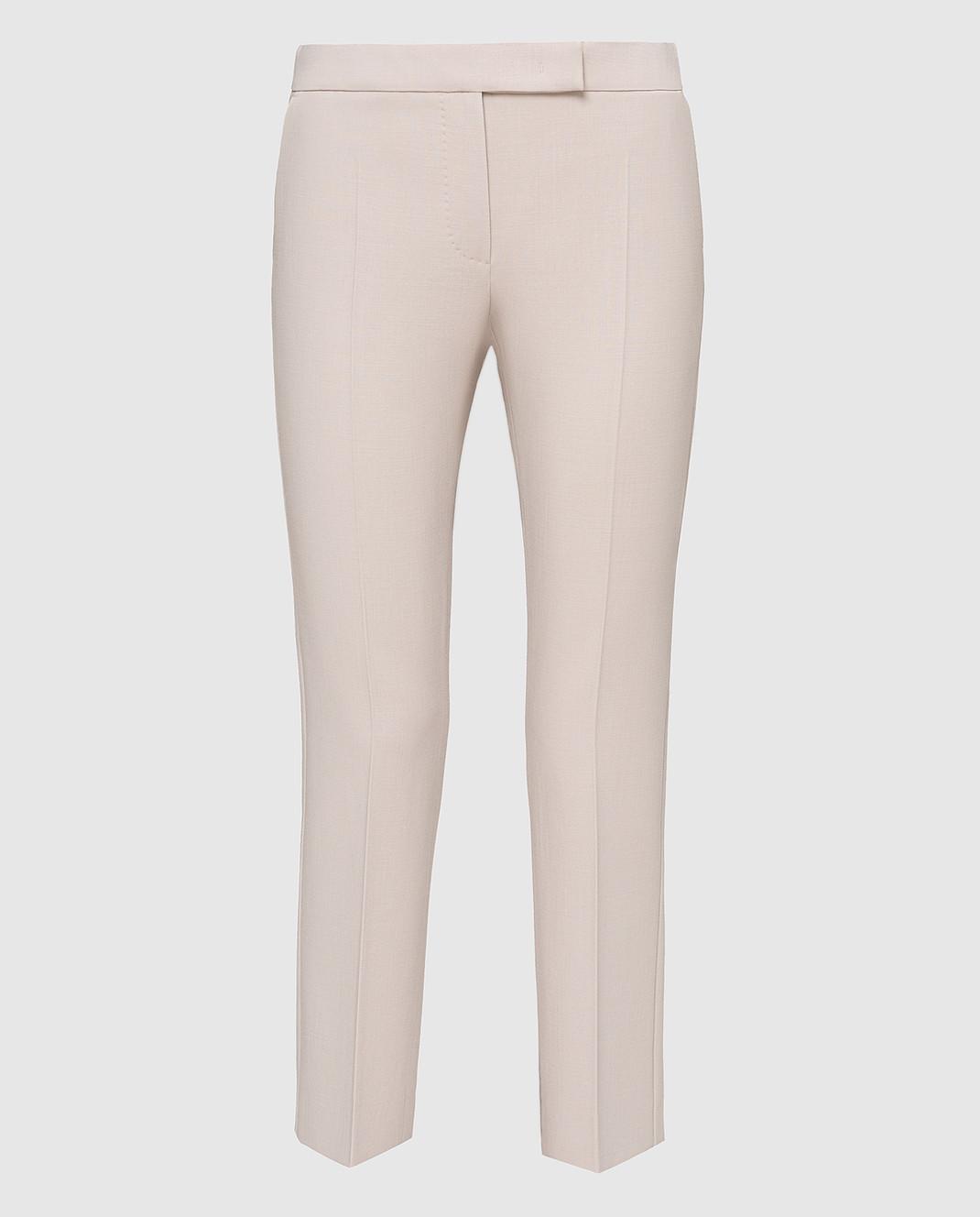 Max Mara Светло-бежевые брюки из шерсти OSTILE