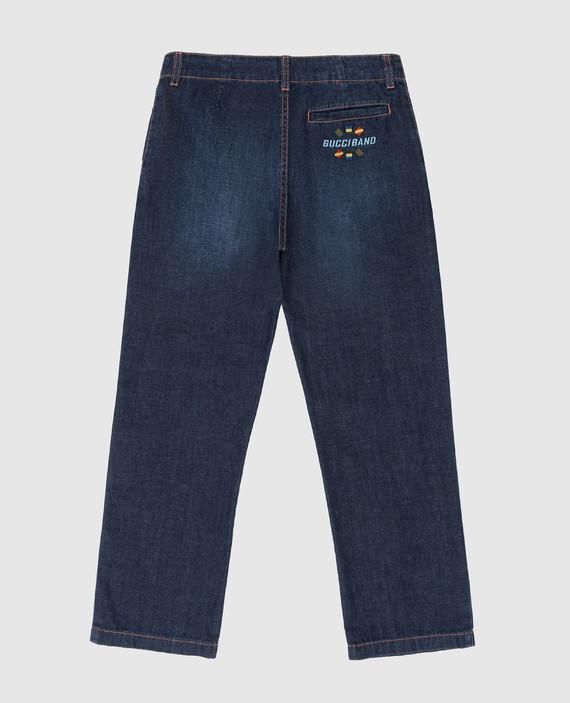Детские темно-синие джинсы hover
