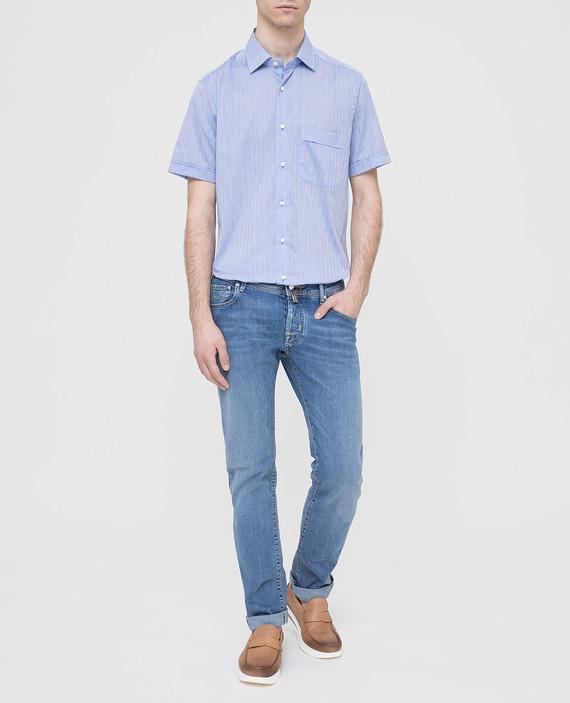 Голубая рубашка hover