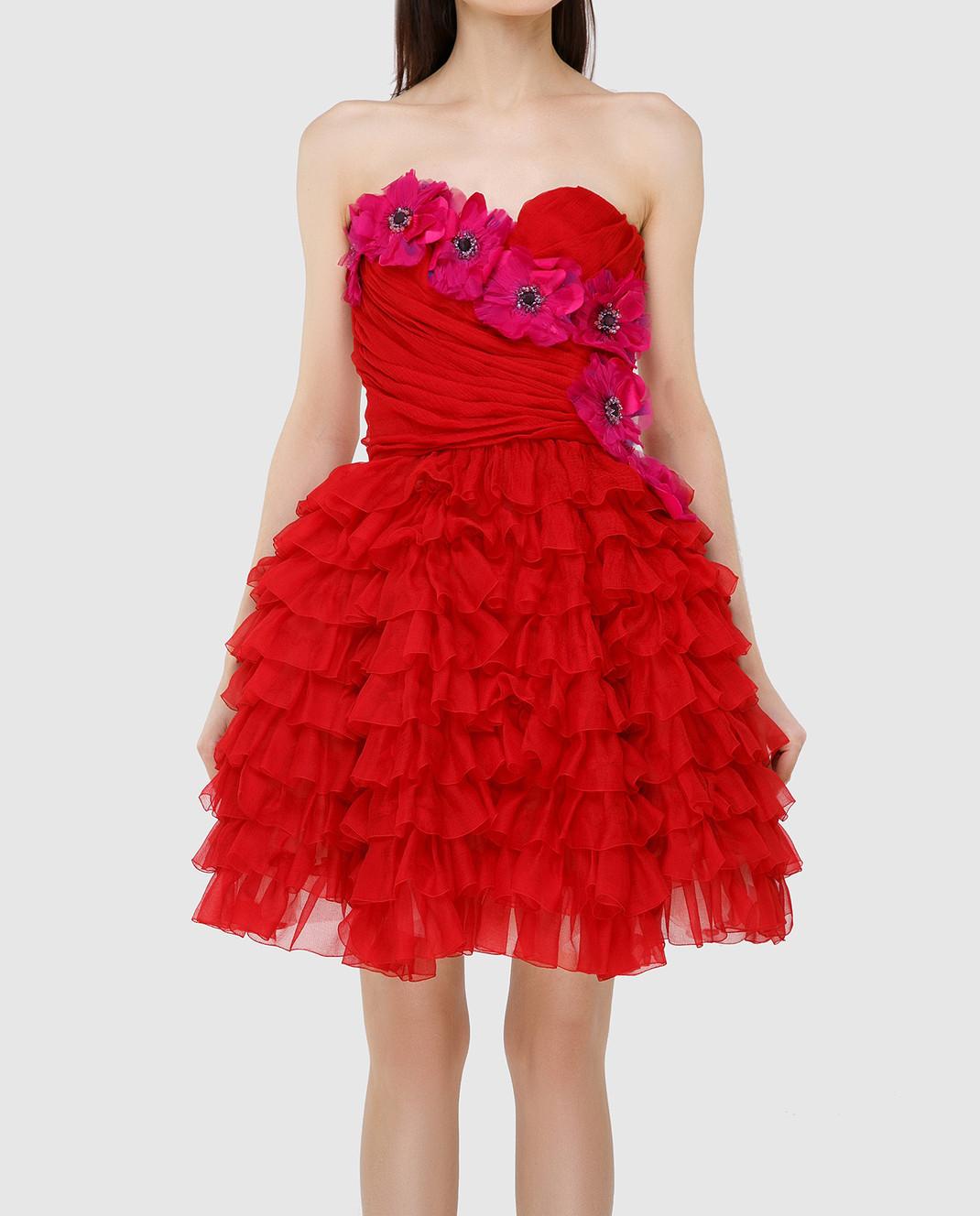 Dolce&Gabbana Красное платье F62R5ZFU1KK изображение 3