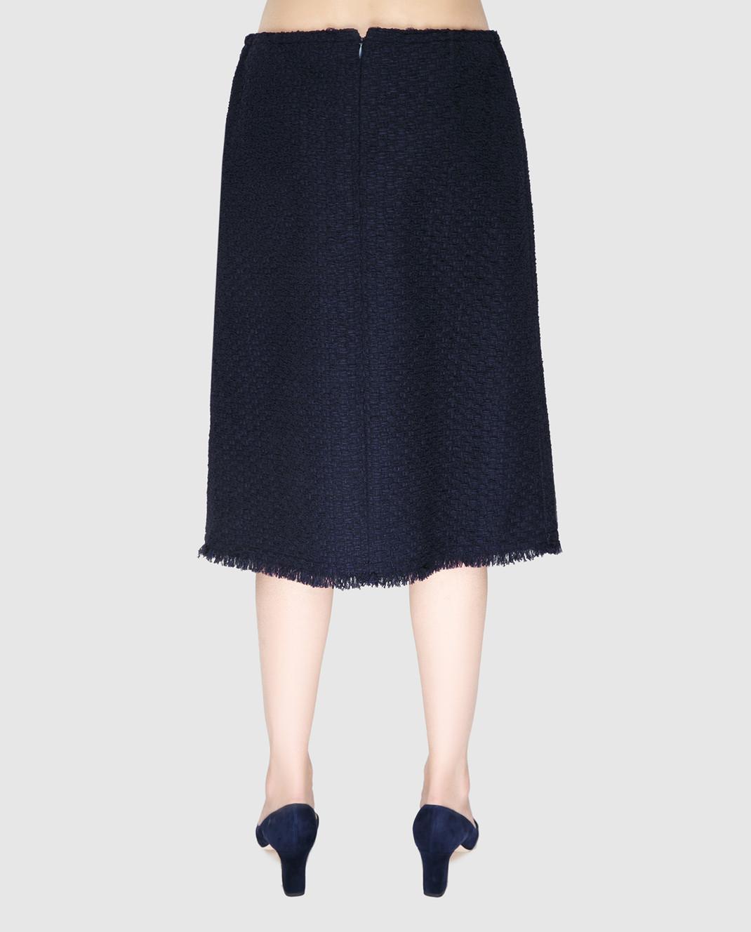 NINA RICCI Темно-синяя юбка 17PCJU023PA0341 изображение 4