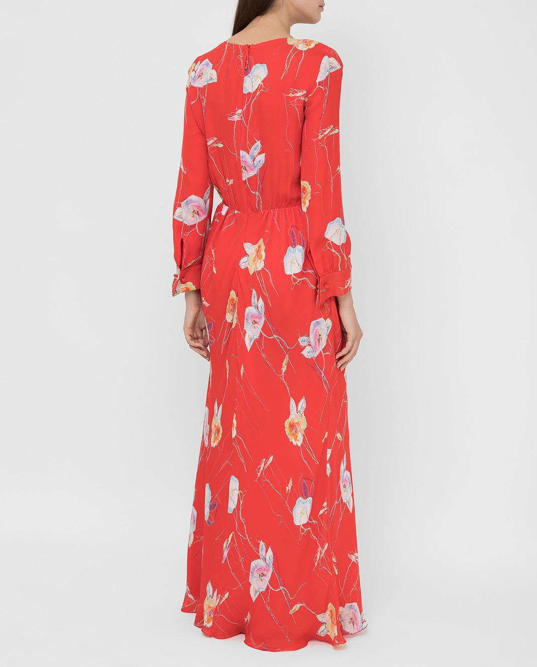 Armani Коралловое платье из шелка изображение 4