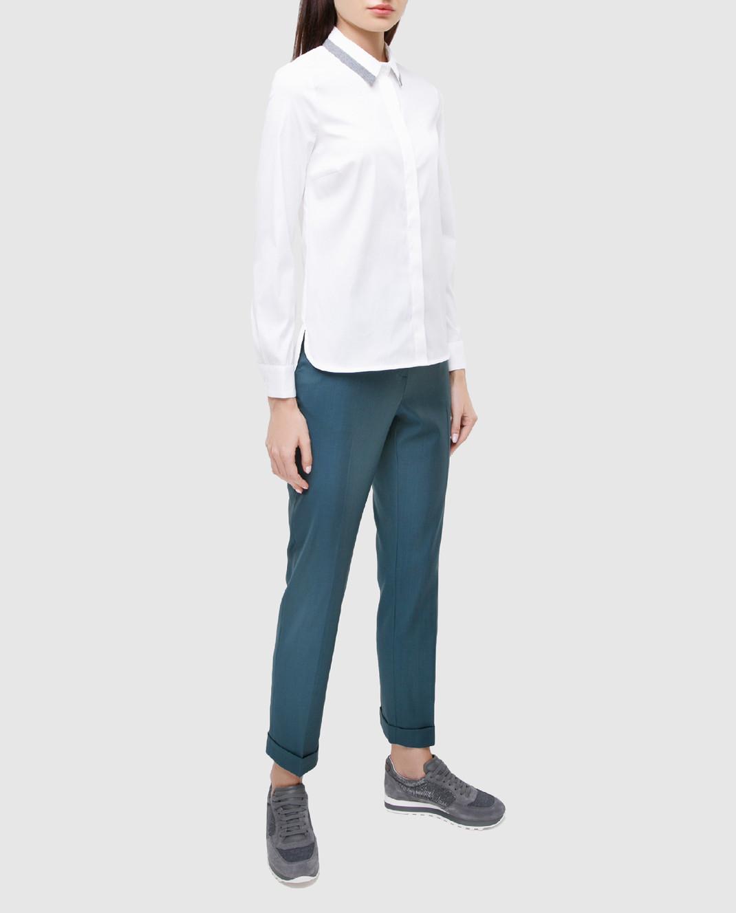 Maison Ullens Светло-синие брюки из шерсти изображение 2