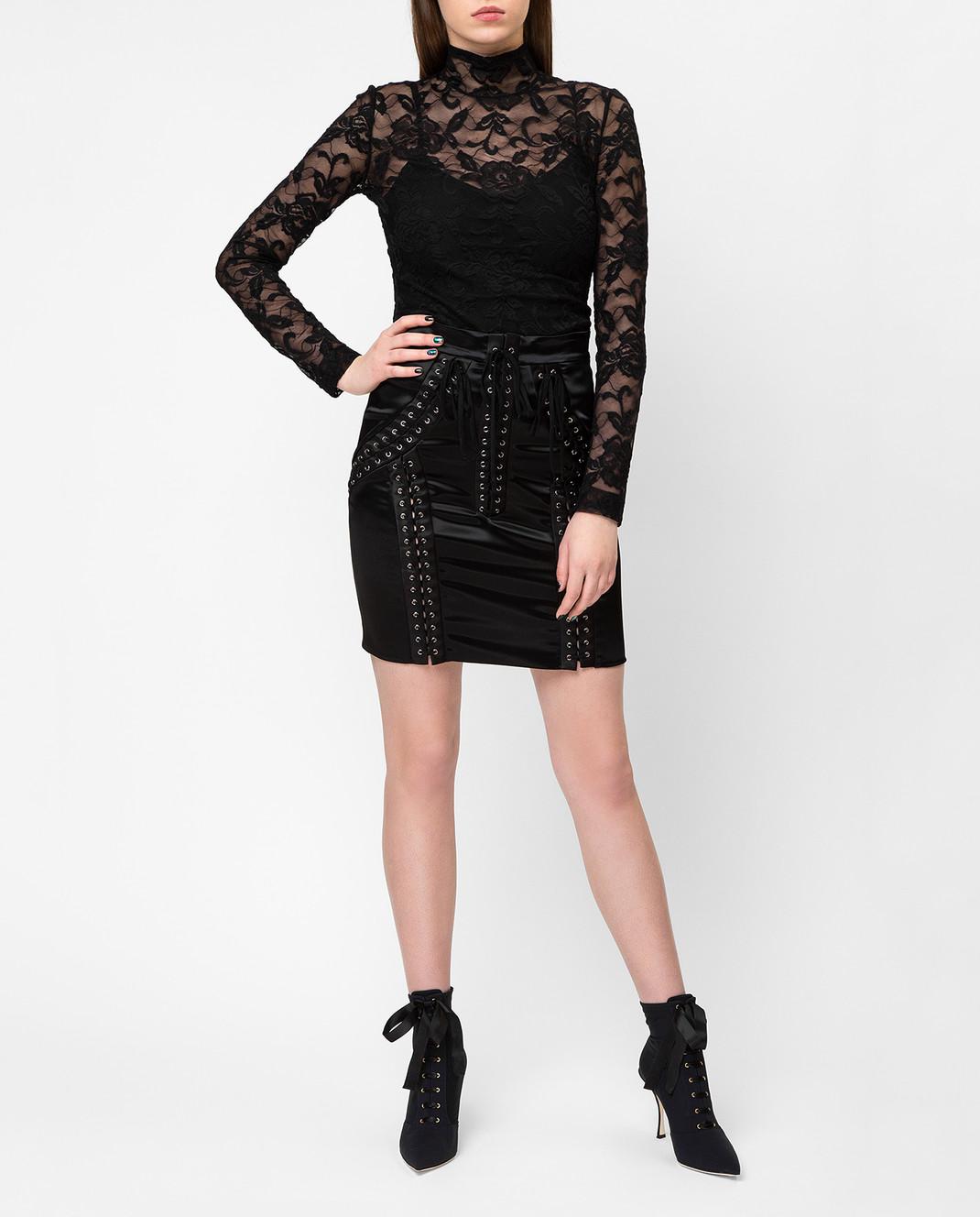 Dolce&Gabbana Черная юбка F4BHKTFURAD изображение 2
