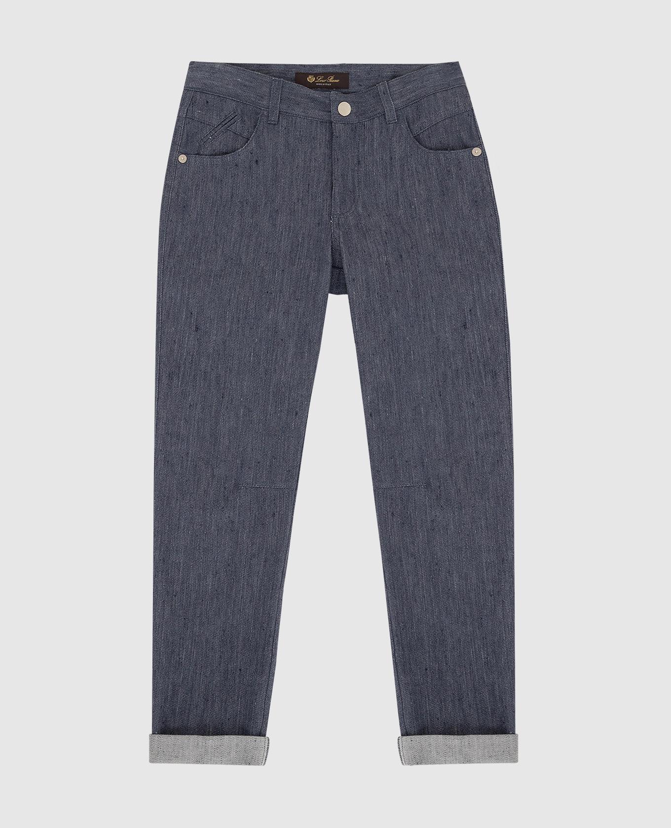 Детские темно-синие джинсы