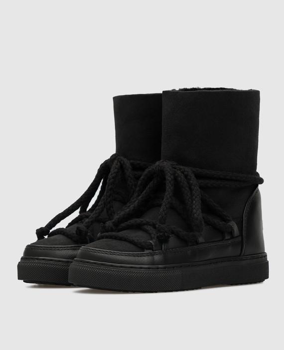 Детские черные ботинки hover