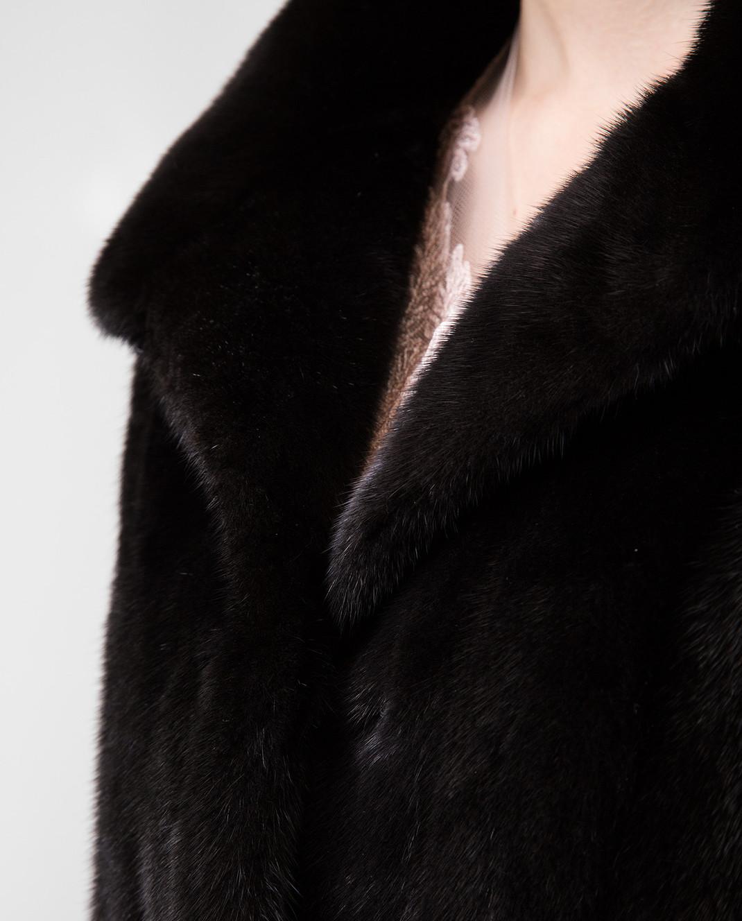 Real Furs House Черное меховое пальто TB5253842 изображение 5