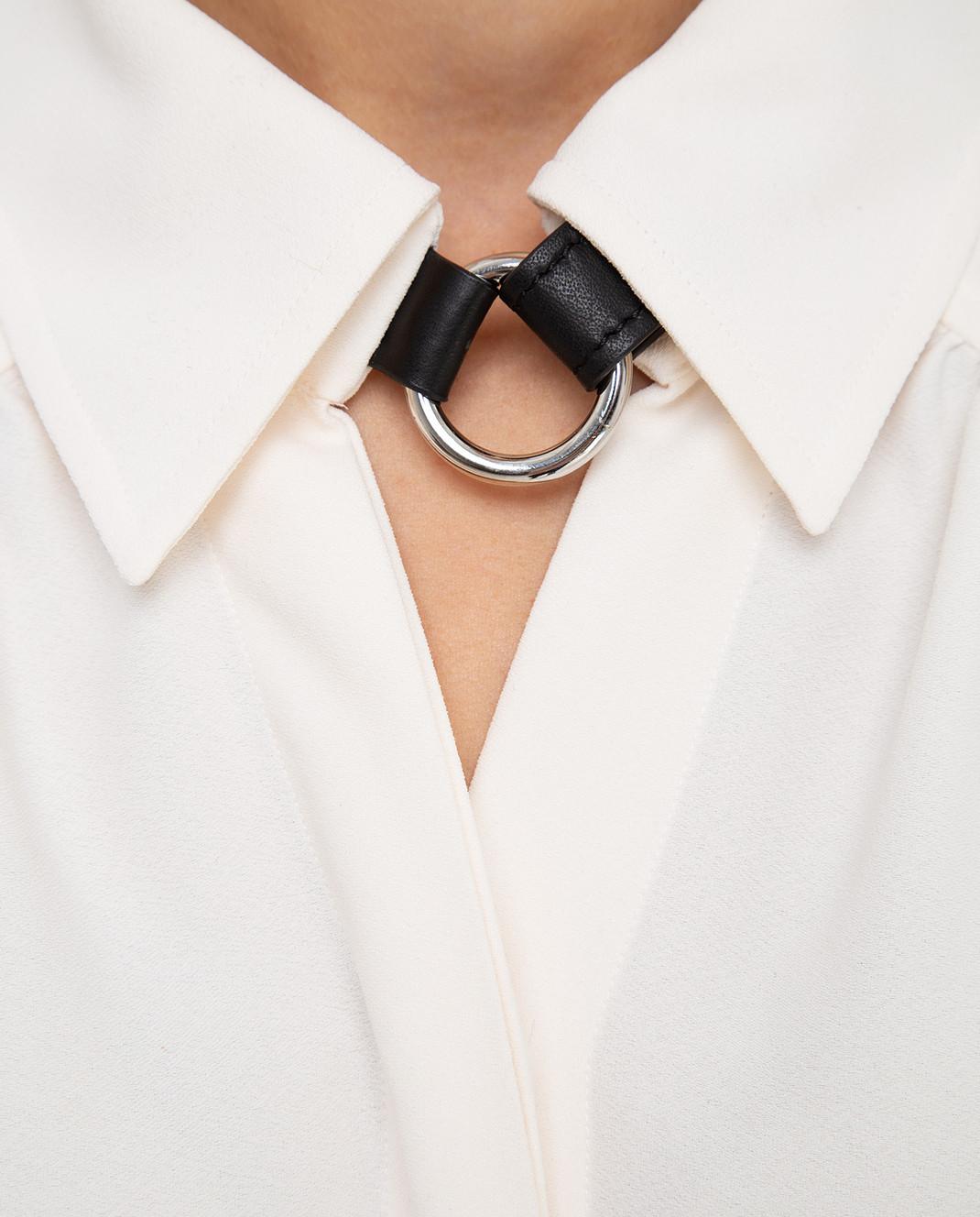 Altuzarra Светло-бежевая блуза изображение 5
