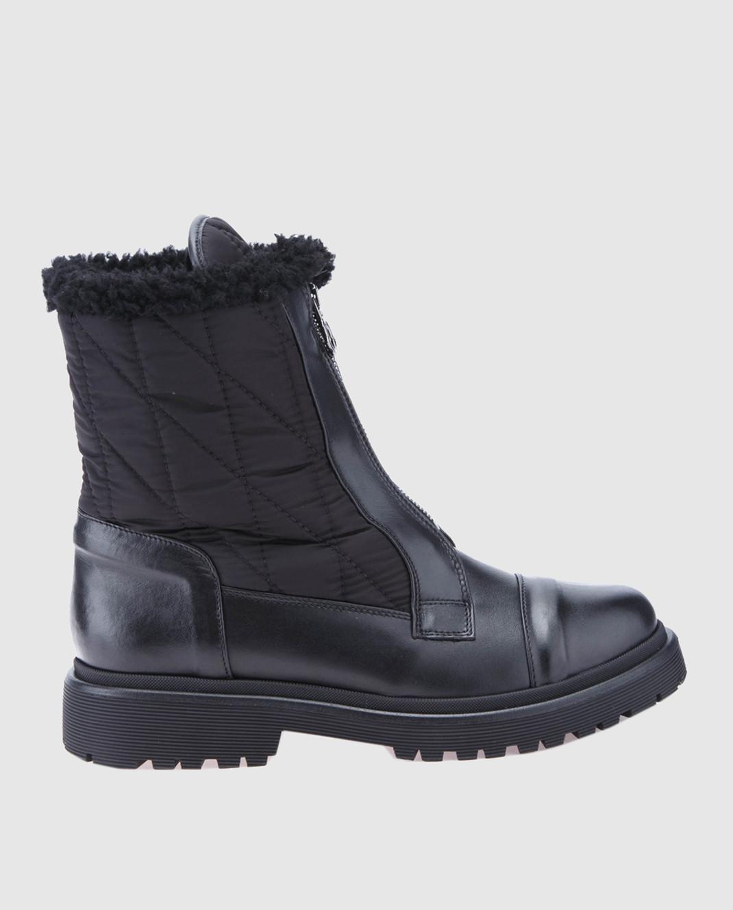 Moncler Черные кожаные ботинки 20314