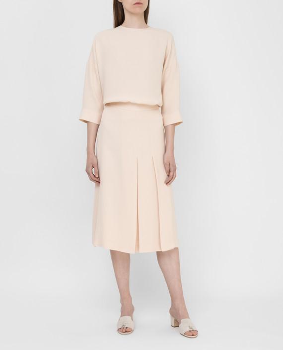Светло-бежевая юбка из шелка hover