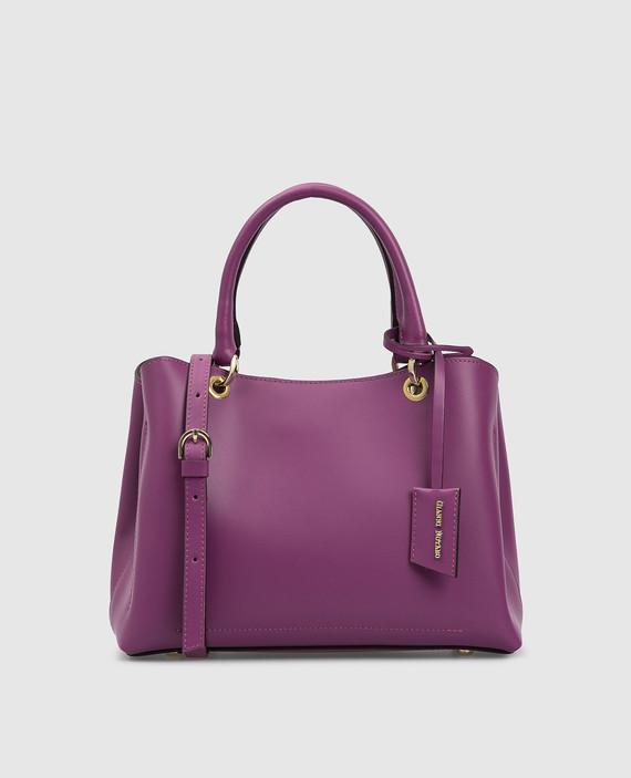 Фиолетовая кожаная сумка
