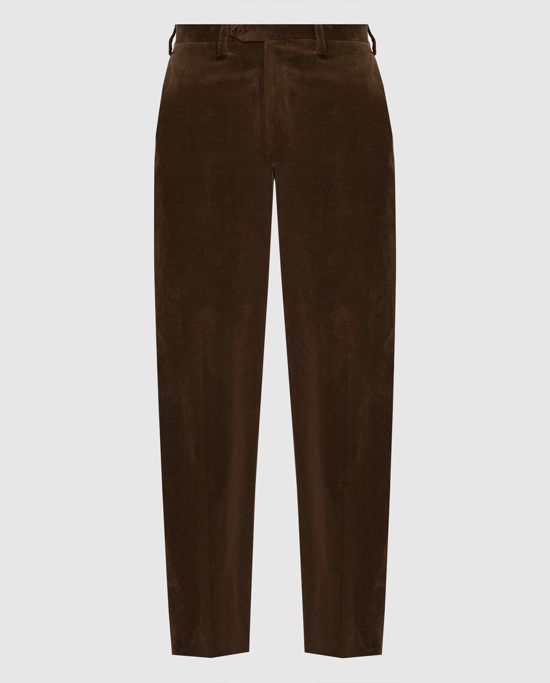 Stefano Ricci Коричневые брюки изображение 1