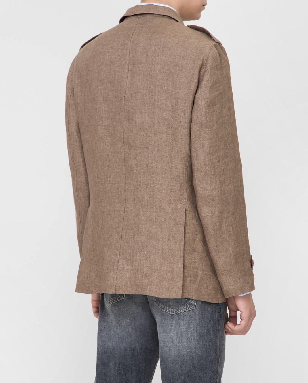 Brunello Cucinelli Коричневая куртка MD4176849 изображение 4