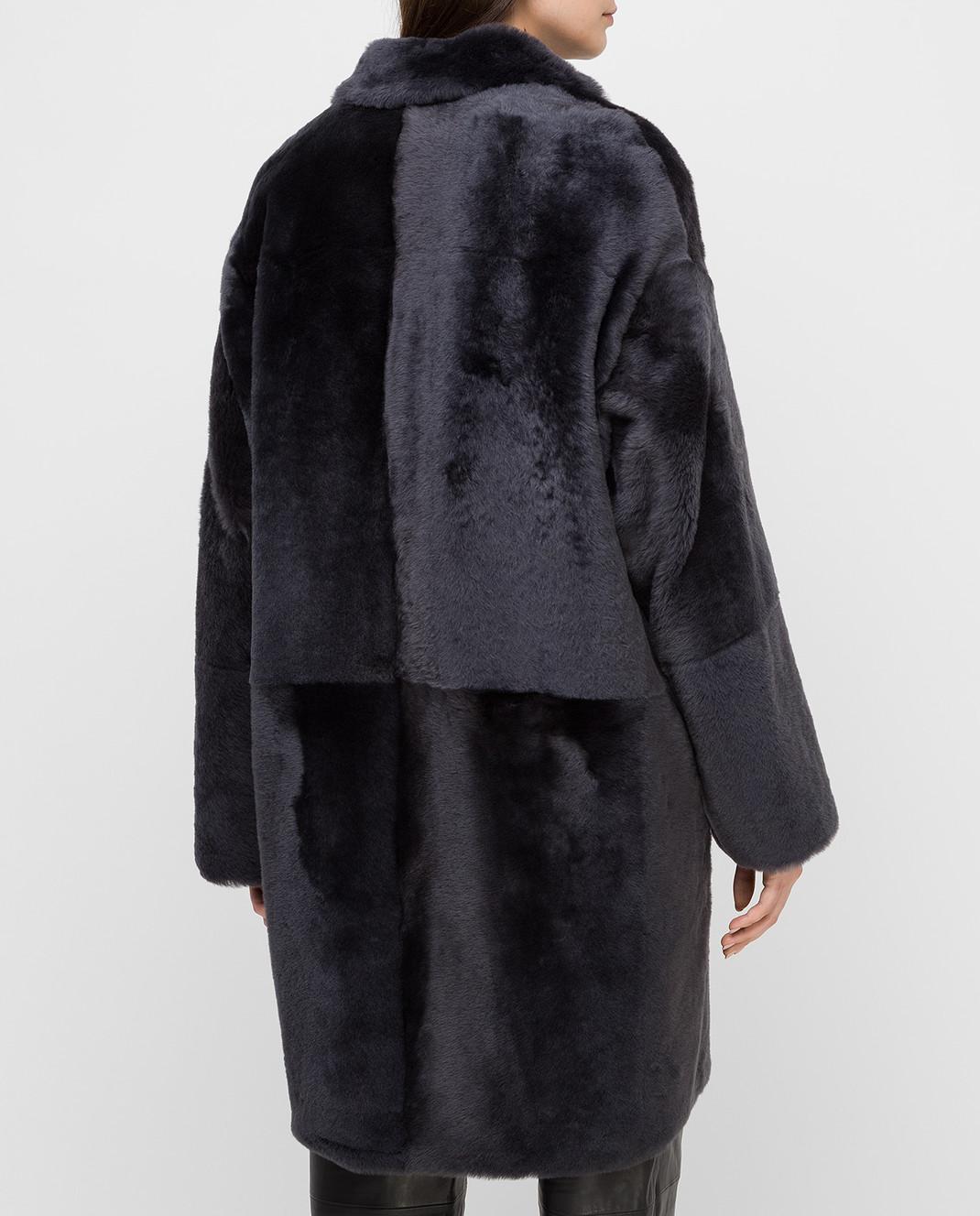 Yves Salomon Темно-синяя шуба изображение 4