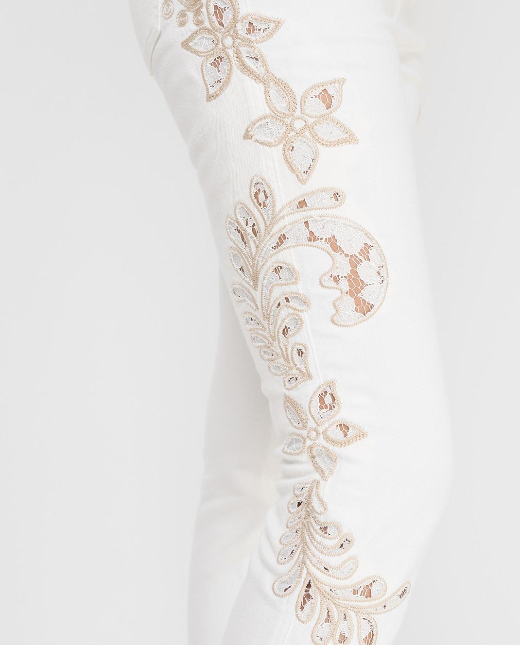 Ermanno Scervino Белые джинсы D287P700UFX изображение 5