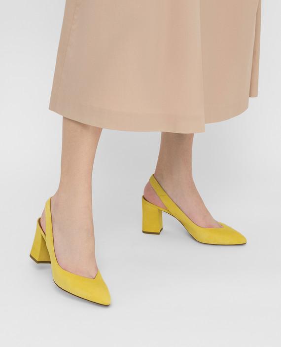 Желтые замшевые слинбэки hover