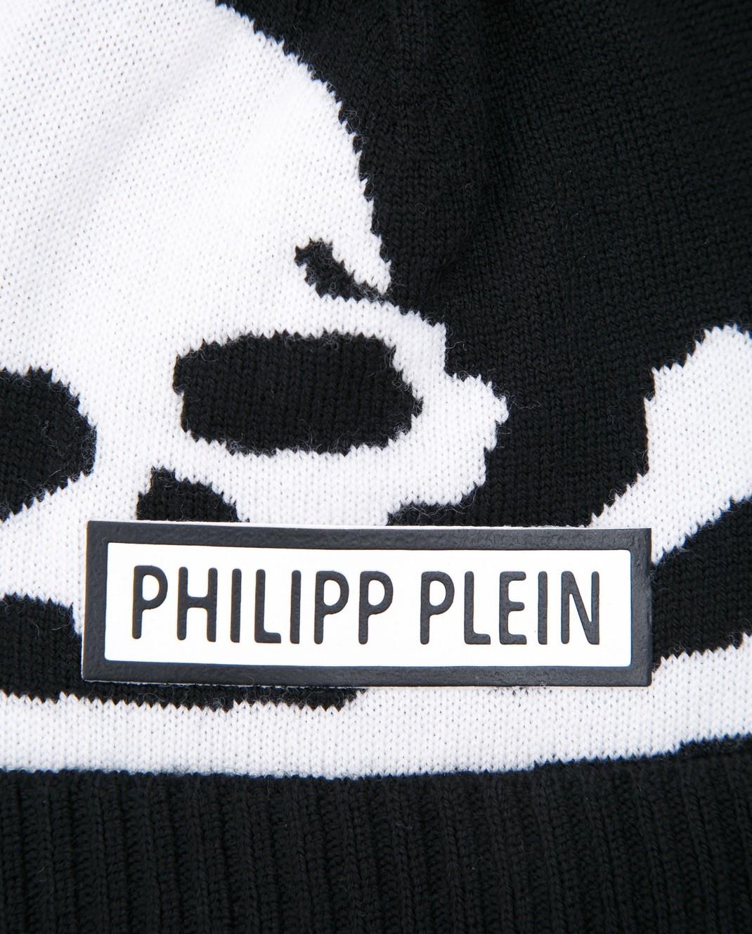 Philipp Plein Детская черная шапка BAC0008 изображение 3