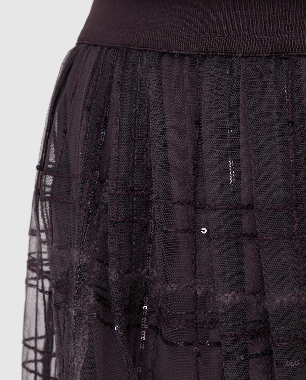 Brunello Cucinelli Фиолетовая юбка MA960G2709 изображение 5