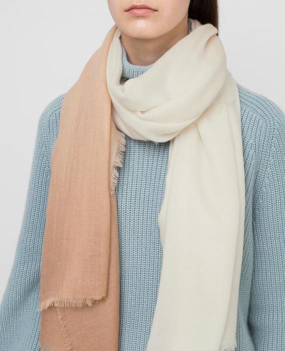 Светло-бежевый шарф из кашемира hover