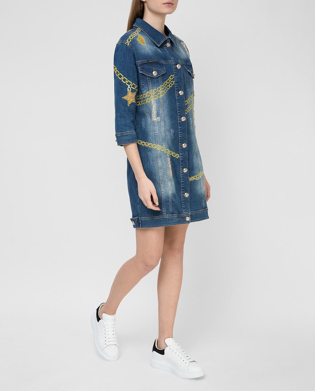 Philipp Plein Синее платье CWDG0016 изображение 2