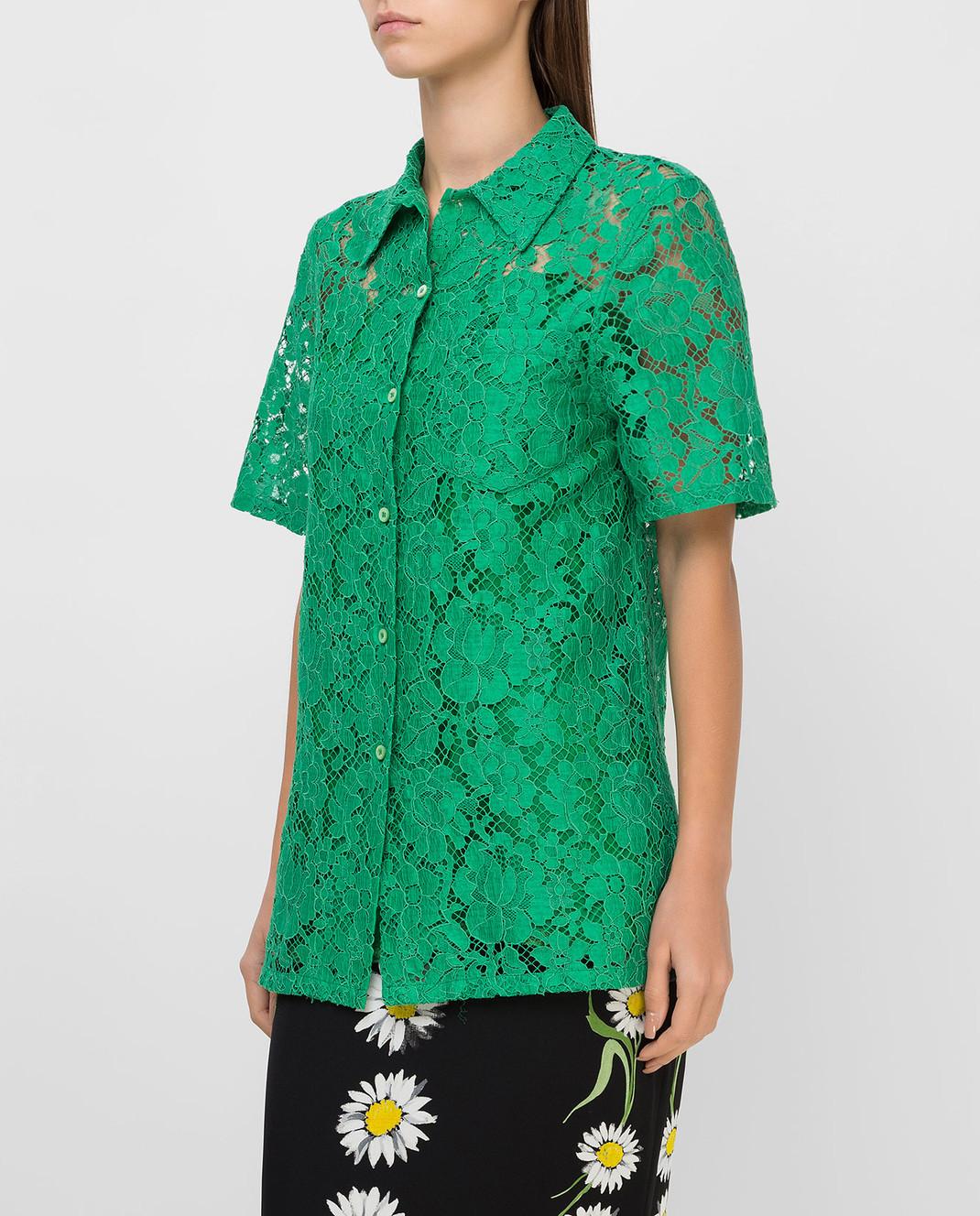 Prada Зеленая рубашка изображение 3