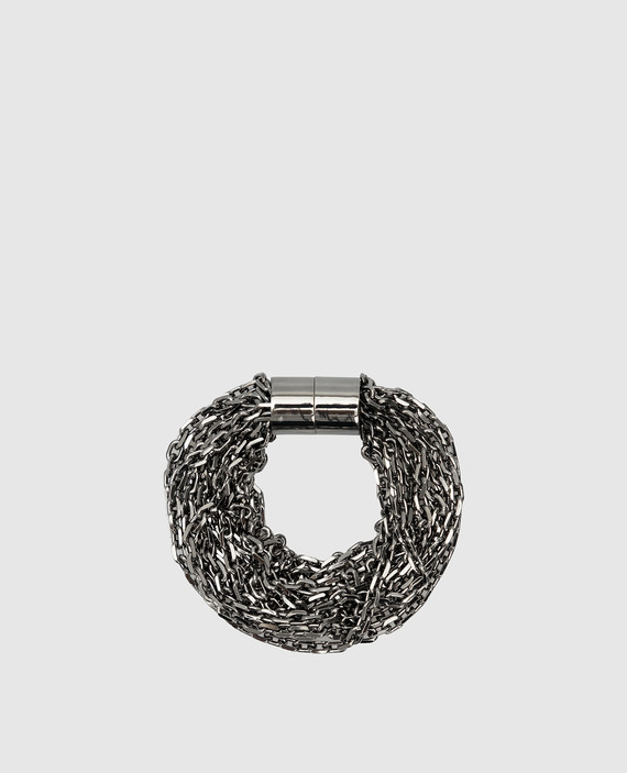 Темно-серебристый браслет