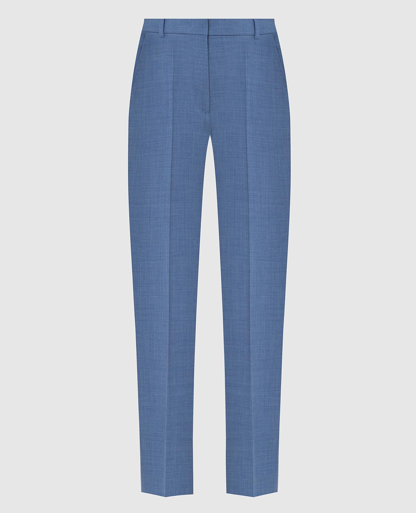 Голубые брюки из шерсти