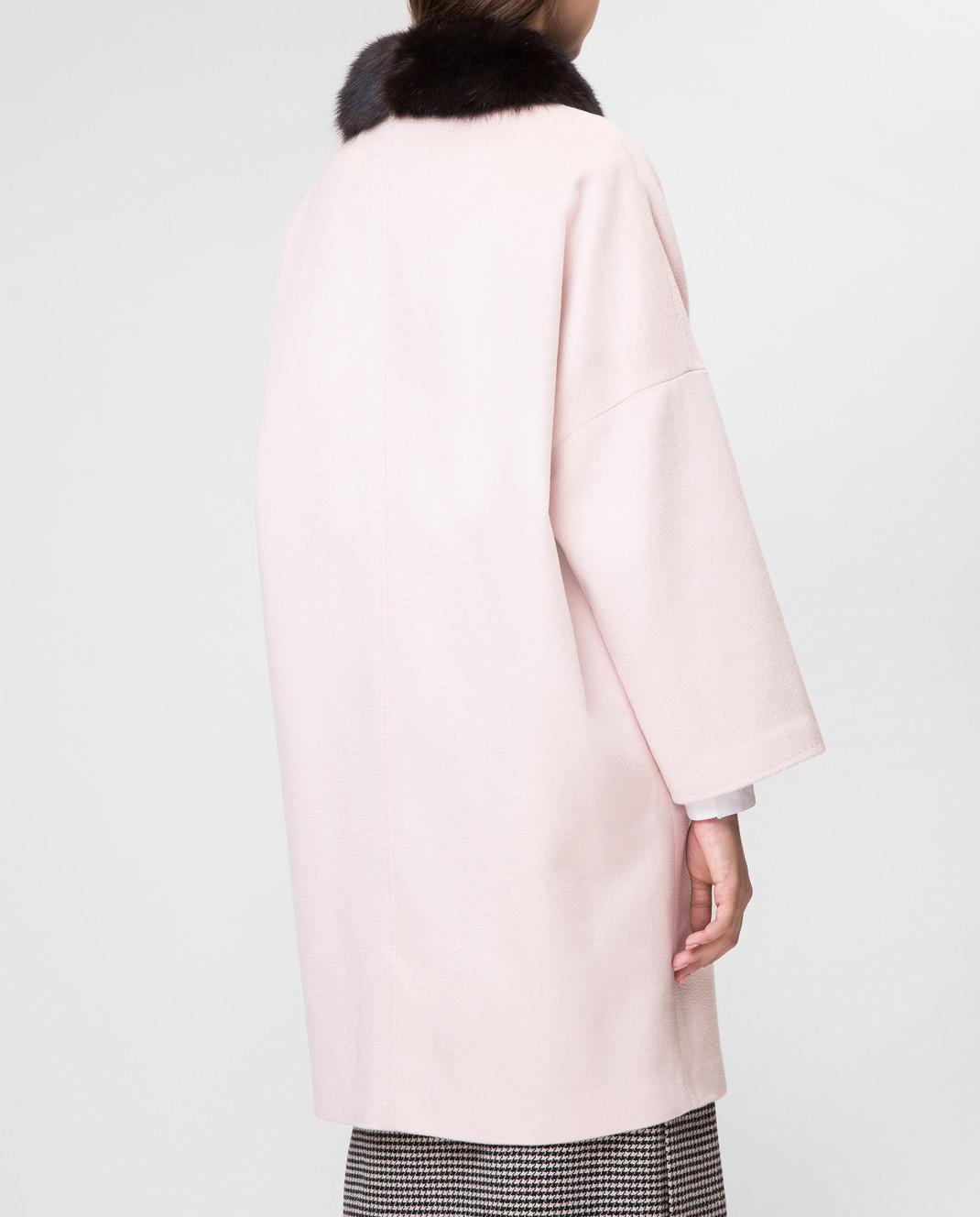 Real Furs House Пудровое пальто CSR7177 изображение 4
