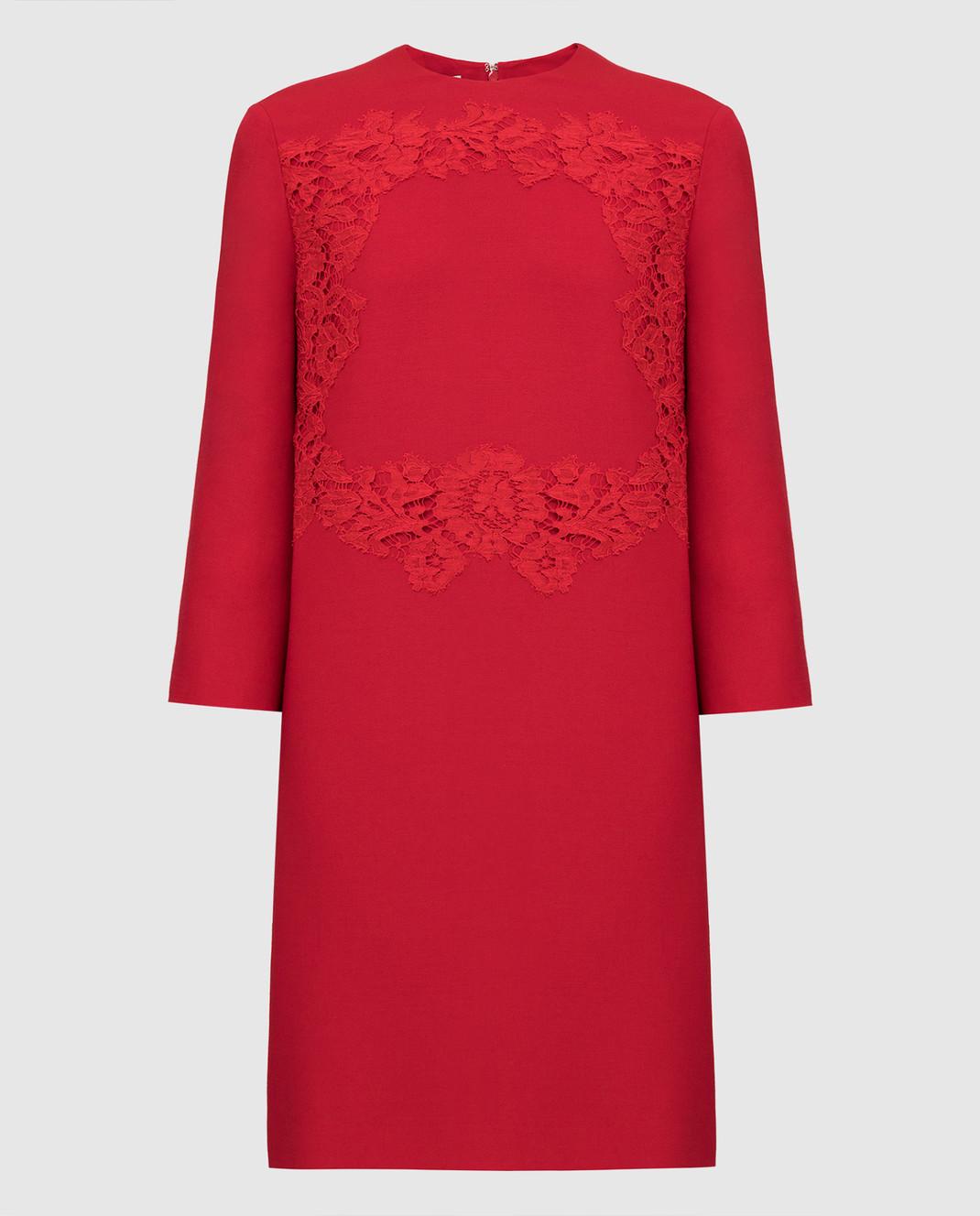 Valentino Красное платье из шерсти и шелка SB0VAPN0360