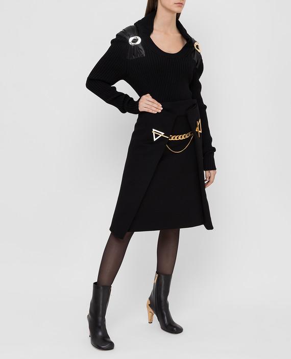 Черная юбка из кашемира hover