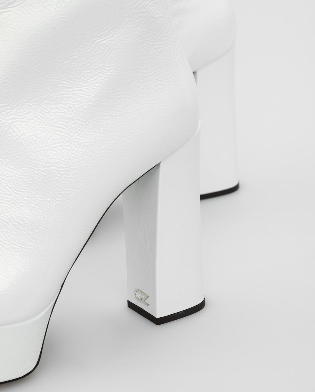 Giuseppe Zanotti Белые кожаные ботильоны изображение 5