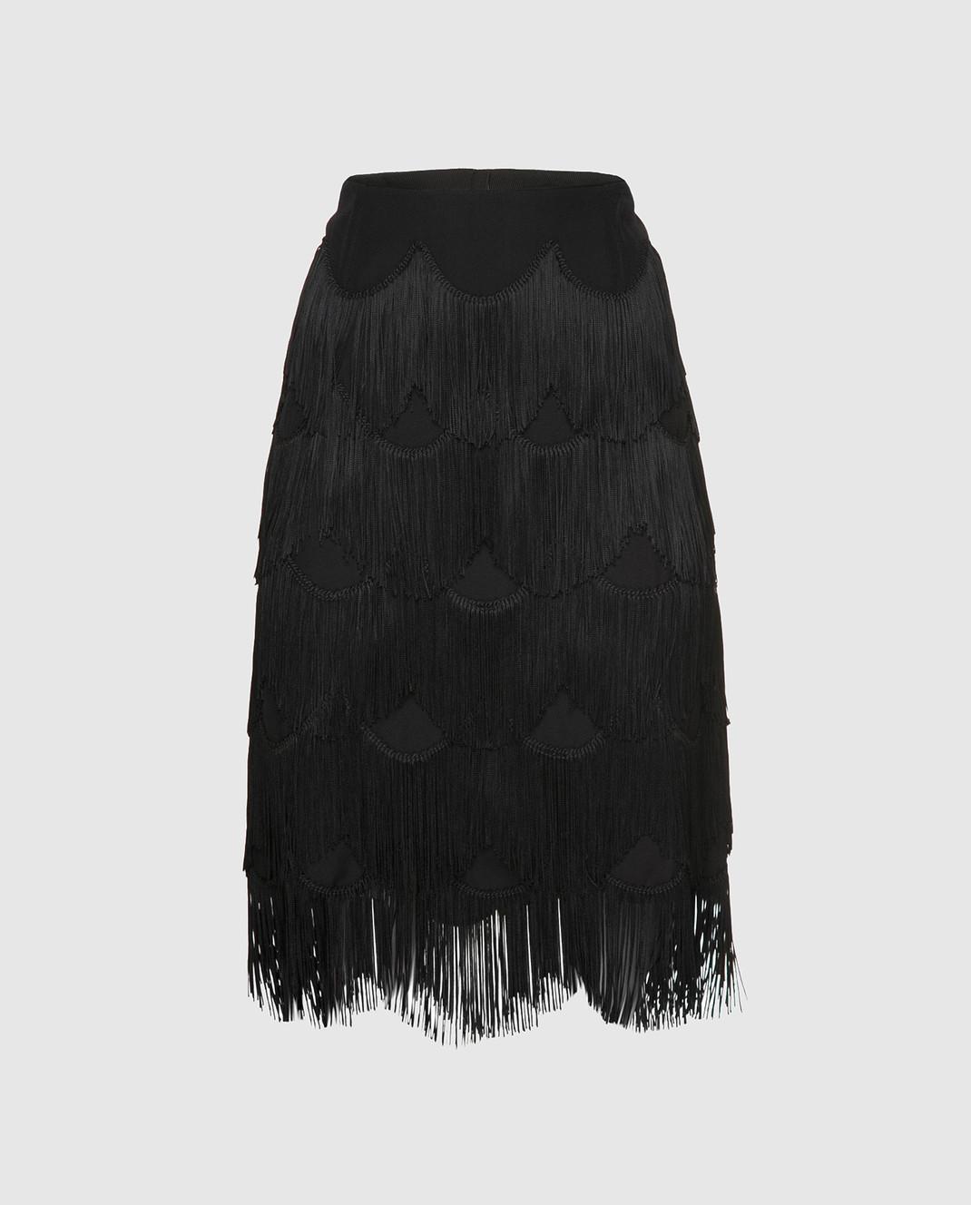 Marc Jacobs Черная юбка с бахромой M4007189
