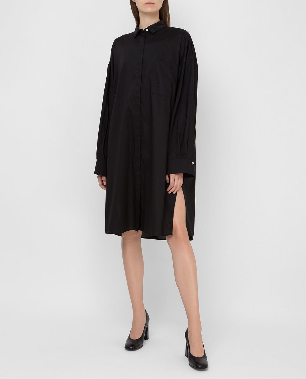 Toteme Черное платье изображение 2