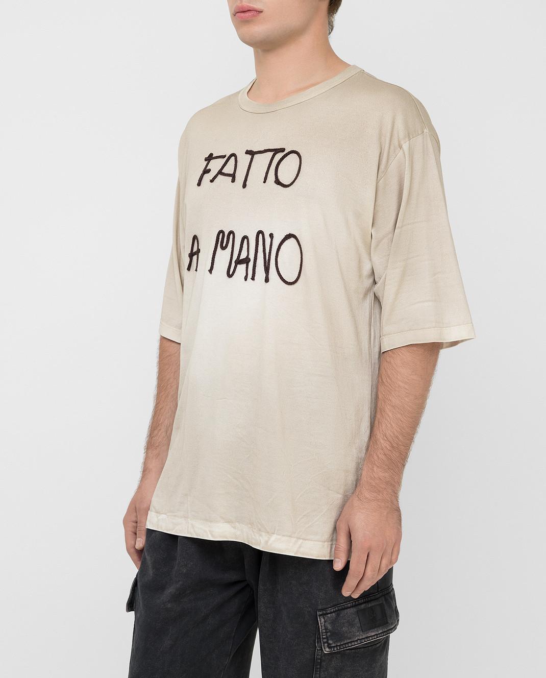 Dolce&Gabbana Бежевая футболка изображение 3