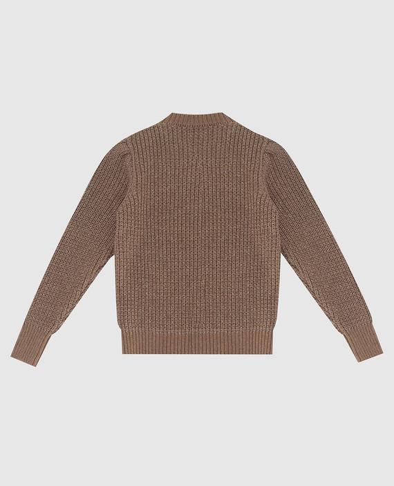 Детский коричневый свитер hover