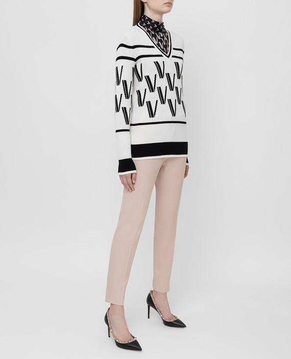 Светло-бежевый пуловер из шерсти и кашемира hover