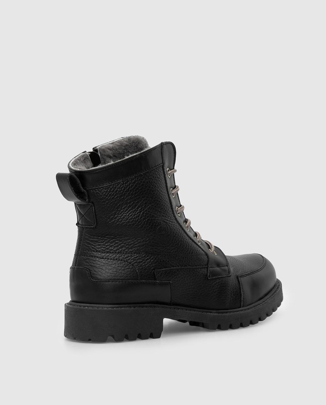 Zecchino D'oro Детские черные ботинки на меху A044123640 изображение 3