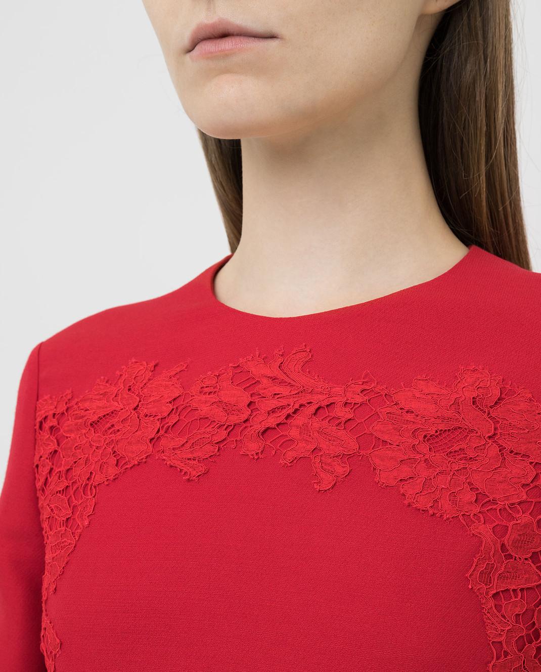 Valentino Красное платье из шерсти и шелка SB0VAPN0360 изображение 5